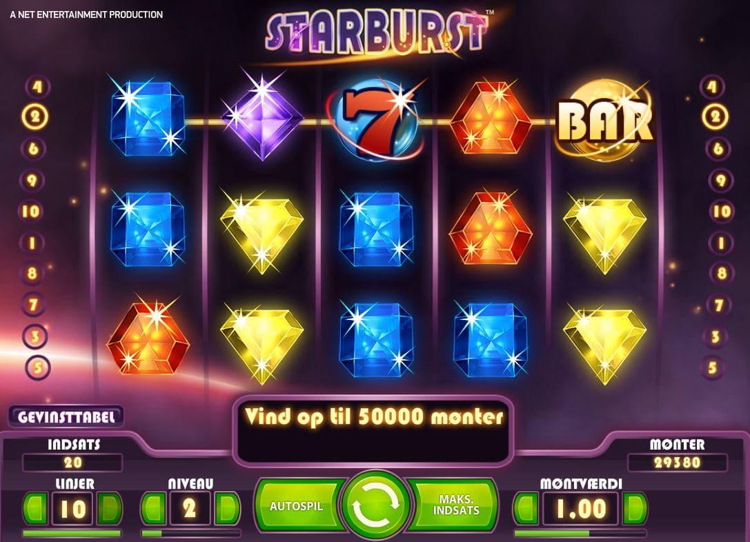 Starburst spillemaskine